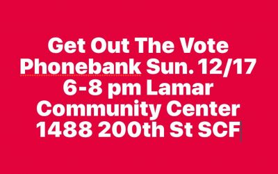 Get Out The Vote Phonebank!