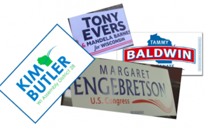 Tony Evers and Margaret Engebretson signs are in!