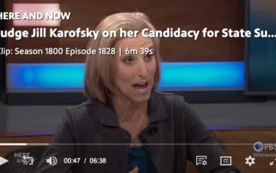 Judge Jill Karovsky on Wisconsin Public Radio.