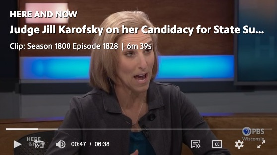 Judge Jill Karovsky on Wisconsin Public Radio.