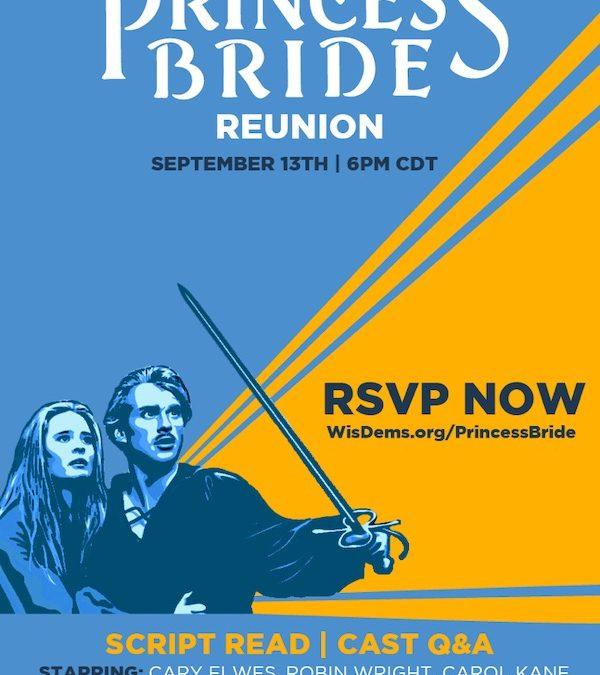 Princess Bride fundraiser for DPW!